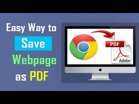 Easy way to Save Webpage as PDF Document File