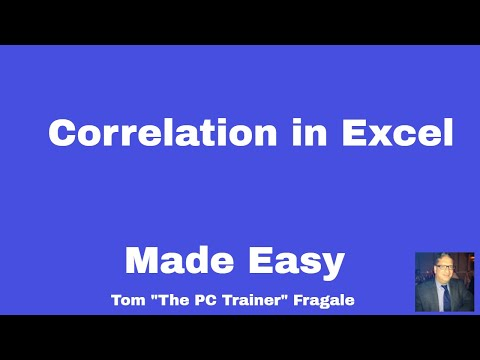 correlation in excel - How to use the correlation data analysis tool Microsoft  Excel 2016 2013 2010