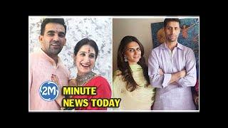 जहीर खान की शादी की, वाइफ के साथ पहुंचे आशीष नेहरा, Ashish Nehra with Wife