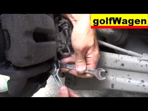 How to change rear caliper on VW Golf 5, bad caliper symptoms bad handbrake