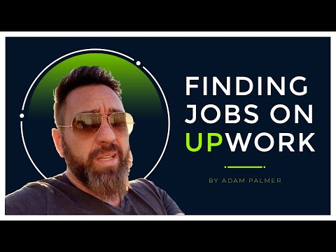 Finding gigs and jobs on Upwork when first starting out.