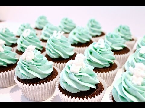 HOW TO MAKE CHRISTENING/ BABY SHOWER CUPCAKES