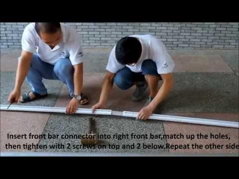 How to install Patio Manual Retractable Sun Shade Awning