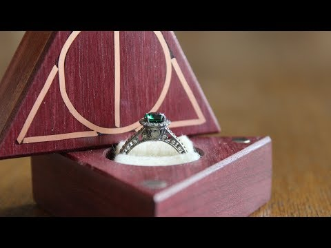Making a Deathly Hallows Engagement Ring Box