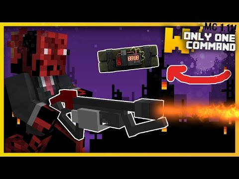 Minecraft - Modern Weapons With Only One Command Block! (Flamethrowers, Tasers & More!)