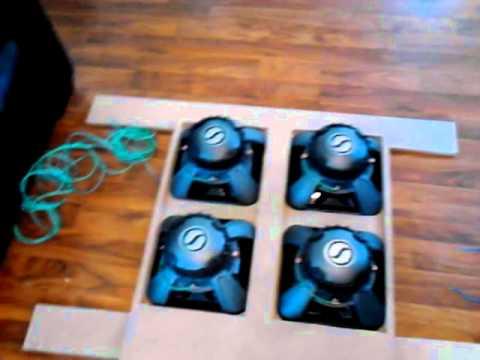 Subwoofer box build (4 12