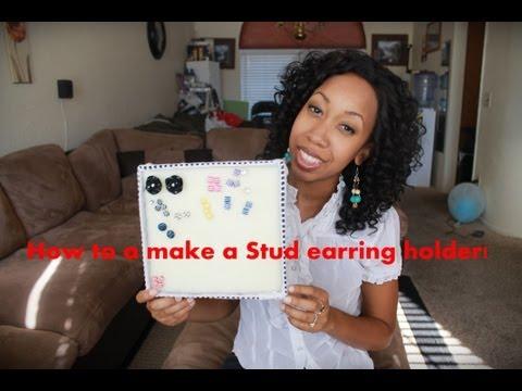 DIY | Stud Earring Holder.