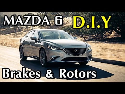 2014 Mazda 6 How to change front Rotors and Brakes