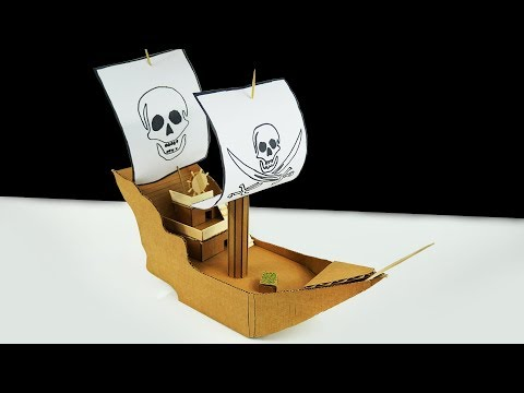 How to Pirates of the Caribbean Ship from Cardboard
