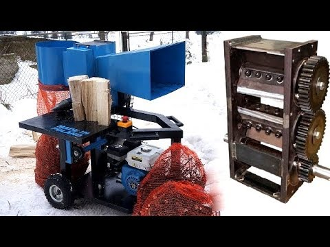 Making WOOD CHIPPER and LOG SPLITTER in one