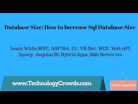 Database Size: How to Increase Sql Database Size