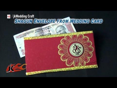How to make Shagun Envelope from Wedding card | Best Out of waste | JK Wedding Craft 068