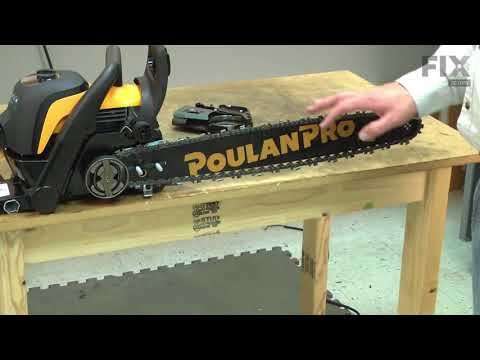 Poulan Chainsaw Repair - How to Replace the Bar