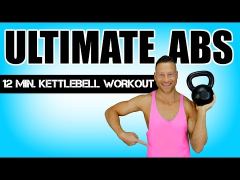 ULTIMATE KETTLEBELL AB WORKOUT | 12 Minute Kettlebell Workout With Abs Exercises For A Flat Stomach