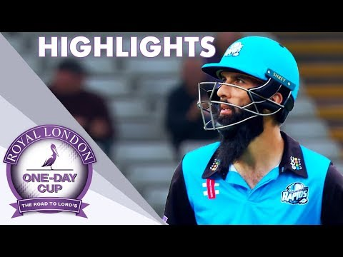 Moeen Hits 64-Ball Century In One Wicket Margin - Royal London One-Day Cup 2018 Highlights