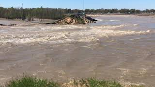 Flooding Wixom Lake waters at Edenville Dam