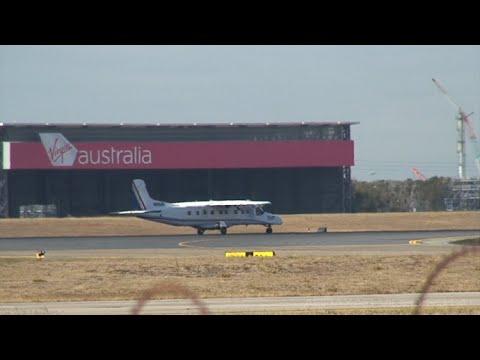 GAM Do-228 [VH-VJN] - Departure from Brisbane - 21 July 2014