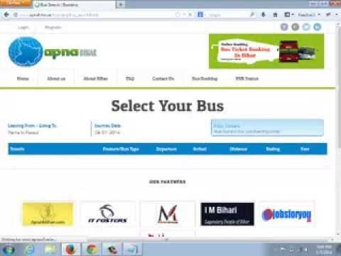 Apna Bihar online Bus Ticket Booking Demo