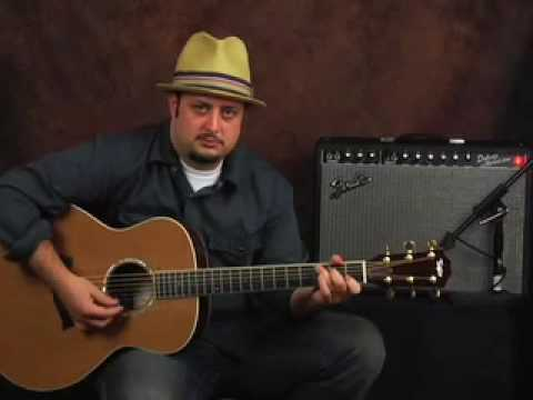 How to play Acoustic Bluegrass guitar easy beginner lesson