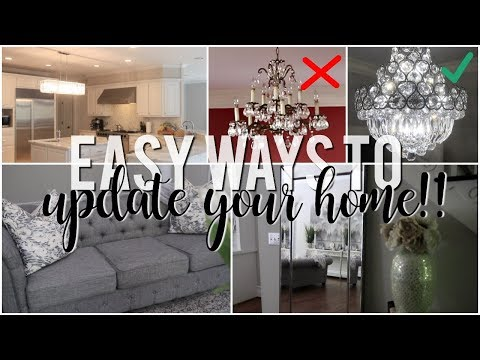 Easy Ways to Update Your Home!! #HouseToHome