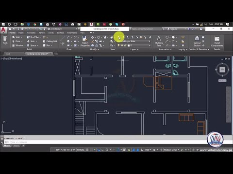 How to Add furniture in Autocad | AutoCAD Architecture 2017 | Text and Dimensions | Lesson 66