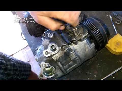 Bmw E46 Air Conditioner Compressor Removal home tools