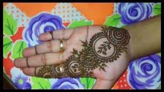 Easy To Do Mehendi Or Henna Tutorial    With Circles    By Ankita Das