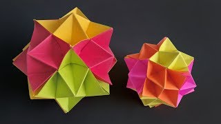 How to Make Diy Paper Spike Ball | Origami Unique Spike Ball