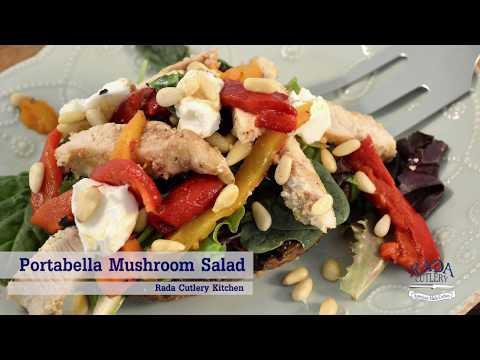 Mushroom Chicken Salad Recipe Video | RadaCutlery.com
