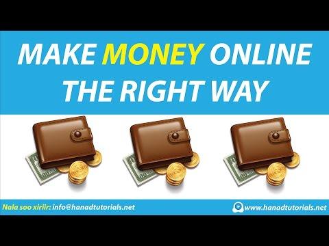 Make Money Online The Right Way - Somali