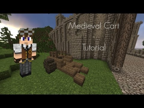 Minecraft - Medieval Cart (2 Minute Tutorial)