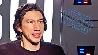 Star Wars 9 Adam Driver talks! (2019) The Rise of Skywalker