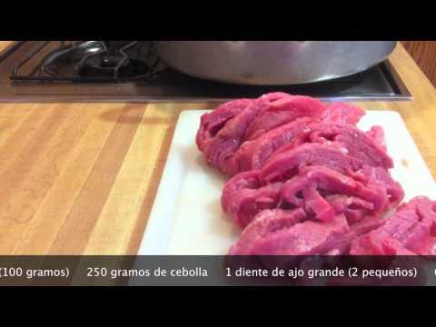 BISTEC DE RES EN SALSA VERDE Cocina mexicana Chef Vargas México