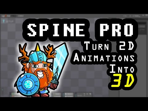 Starting out with Spine; Pt 7 Turn 2d animations in to 3d
