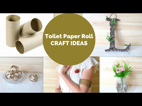 Best out of Waste Easy Toilet Paper Roll Crafts   DIY Tube Craft Ideas and Hacks by Fluffy Hedgehog
