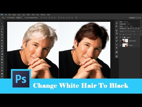 58. [Ps] Change White Hair To Black - Photoshop Tutorial [In Hindi]