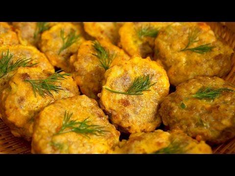 Pan-fried meat & tofu patties (Wanja jeon: 완자전)