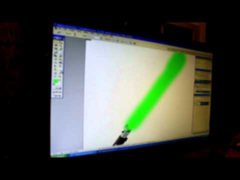 How to make the easiest and fastest lightsaber in Adobe Photoshop 7.0