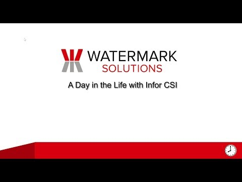 A Day in the Life, with Infor CSI