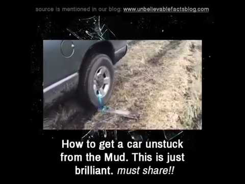 How to get a car unstuck from the mud