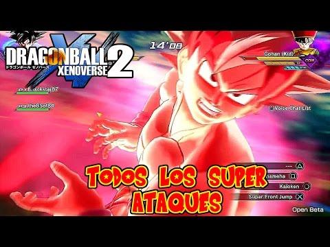 DRAGON BALL XENOVERSE 2 : TODOS LOS SUPER ATAQUES Y ULTIMATE DE LA BETA ! TUTORIAL | RAFYTA