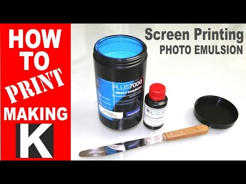 How to make | Screen printing emulsion process
