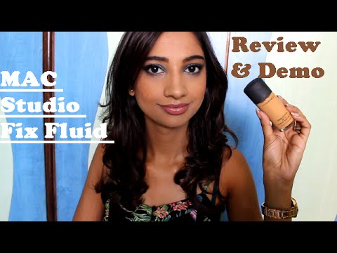 Review & Demo Of MAC Studio Fix Fluid Foundation II Indian Beauty Guru