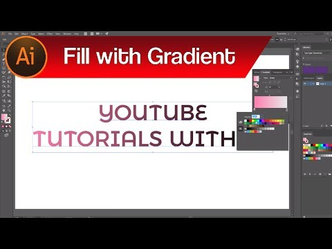 How to Apply Gradient to Text in Adobe Illustrator – Gradient Fill | Illustrator Guide for Beginners