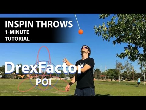 How to do Inspin Throws for Poi: 1-minute tutorial