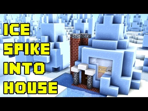 Minecraft: Ice Spike Into House Tutorial Xbox/PE/PC/PS3/PS4