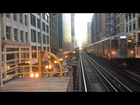 Riding the Chicago L Train - 6x - Chicago's Northside to the Downtown Loop – Chicago Illinois