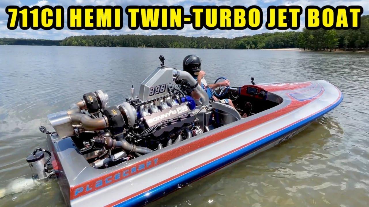 I Run 130 mph in my Twin Turbo Jet Boat!!