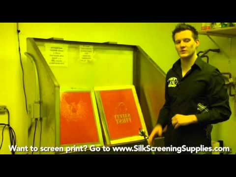 How to Screen Print - Screen Washout - Detailed instruction - Screen Printing 101 DVD pt 21