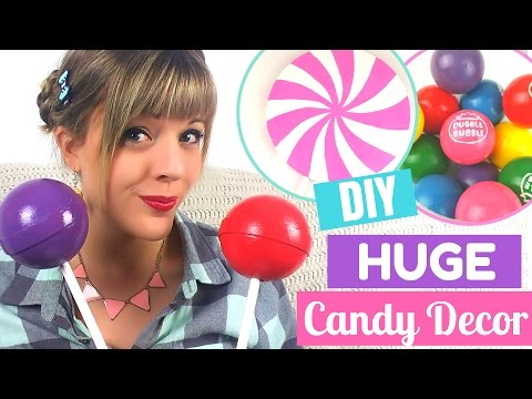 🍭DIY HUGE CANDY Room Decor Tutorial-Easy and Affordable!